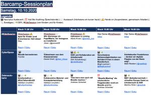 Digitaler Sessionplan